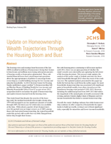 Update on Homeownership Wealth Trajectories Through the Housing Boom and Bust
