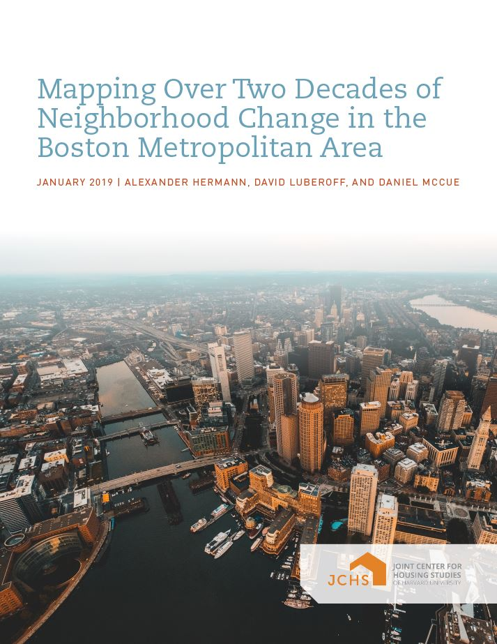 Mapping Over Two Decades of Neighborhood Change in the Boston Metropolitan Area