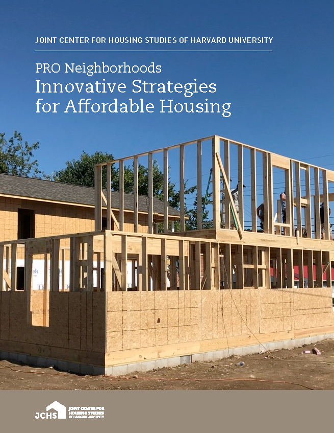 PRO Neighborhoods: Innovative Strategies for Affordable Housing