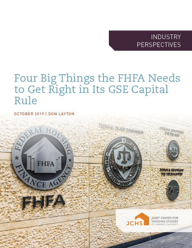 Four Big Things the FHFA Needs to Get Right in Its GSE Capital Rule