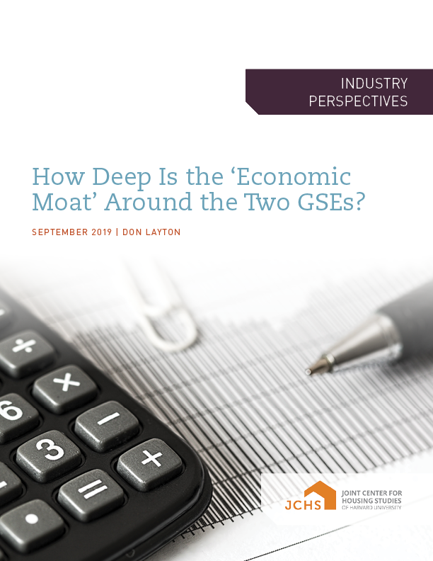 How Deep Is the 'Economic Moat' Around the Two GSEs?