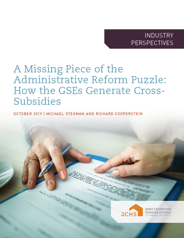 A Missing Piece of the Administrative Reform Puzzle: How the GSEs Generate Cross-Subsidies