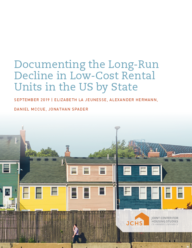 Documenting the Long-Run Decline in Low-Cost Rental Units in the US by State