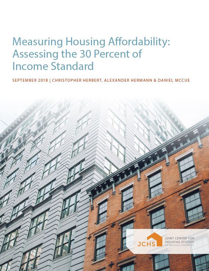 Measuring Housing Affordability: Assessing the 30 Percent of Income Standard