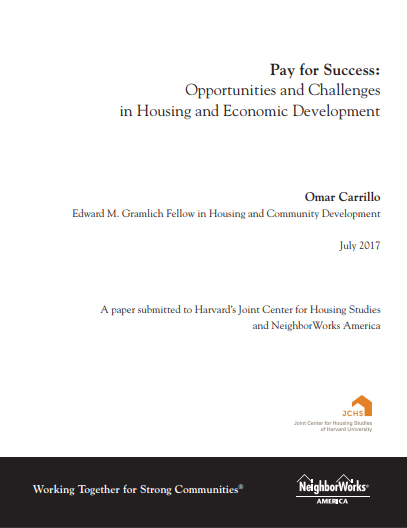 Pay for Success: Opportunities and Challenges in Housing and Economic Development