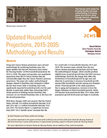 Updated Household Projections, 2015-2035: Methodology and Results