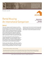 Rental Housing: An International Comparison