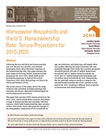 Homeowner Households and the U.S. Homeownership Rate: Tenure Projections for 2015-2035