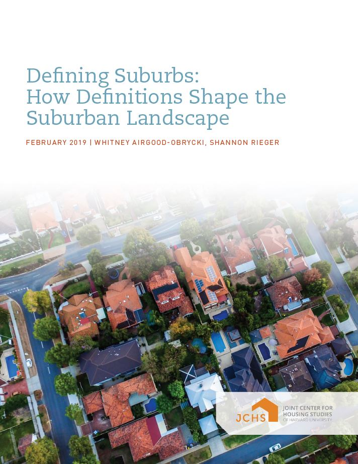 Defining Suburbs: How Definitions Shape the Suburban Landscape