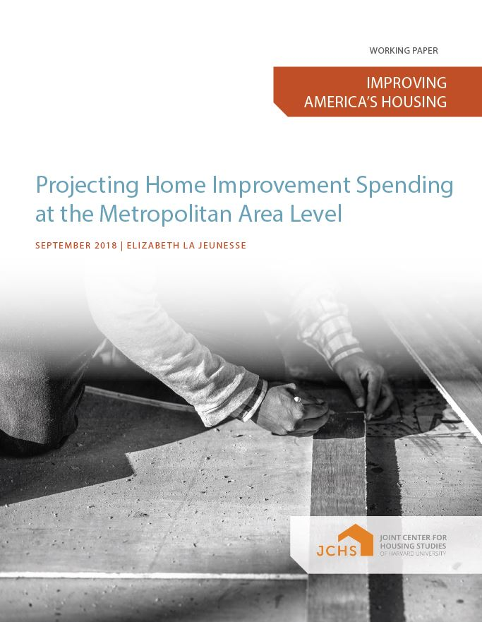 Projecting Home Improvement Spending at the Metropolitan Area Level