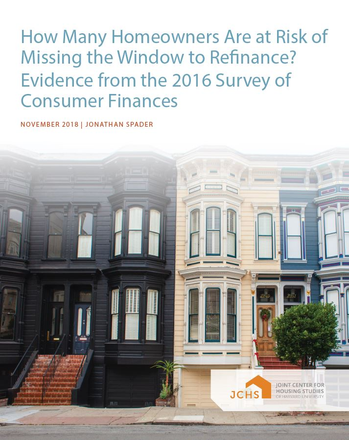 How Many Homeowners Are at Risk of Missing the Window to Refinance? Evidence from the 2016 Survey of Consumer Finances