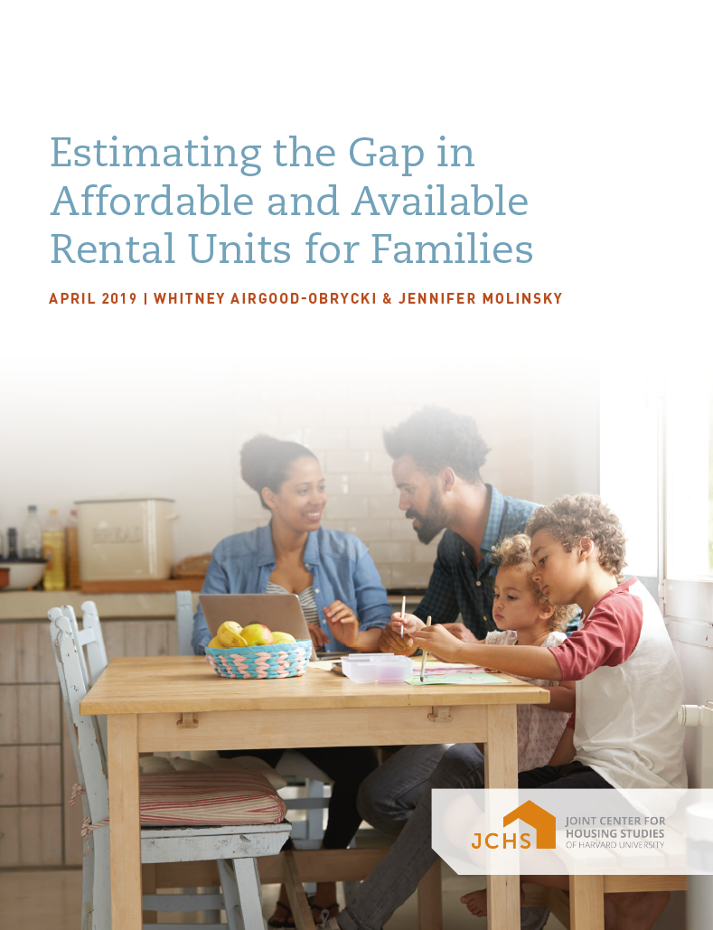 Estimating the Gap in Affordable and Available Rental Units for Families