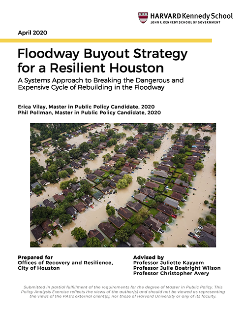 Floodway Buyout Strategy for a Resilient Houston