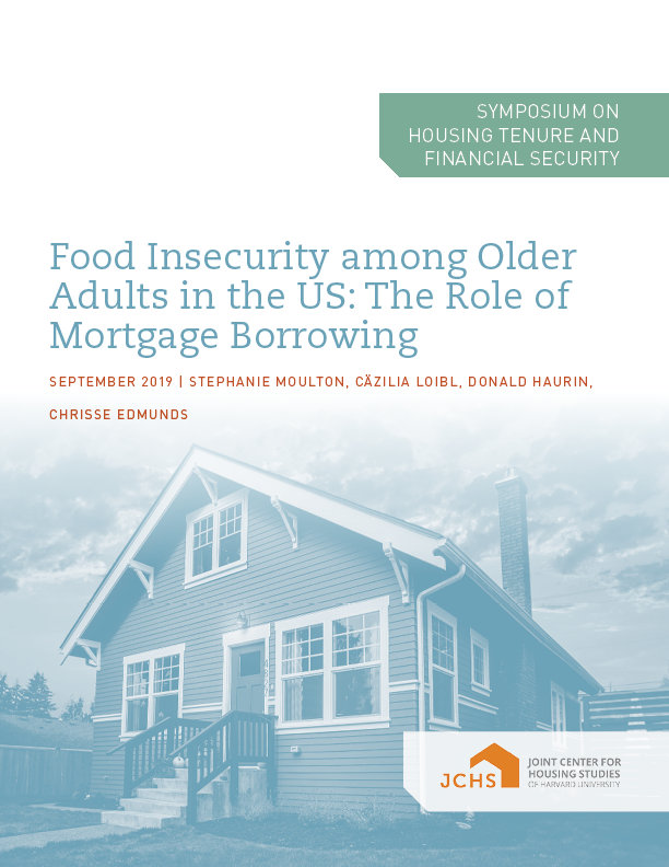 Food Insecurity among Older Adults in the US: The Role of Mortgage Borrowing
