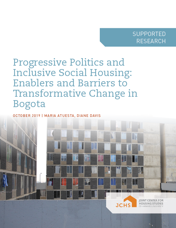 Progressive Politics and Inclusive Social Housing: Enablers and Barriers to Transformative Change in Bogota