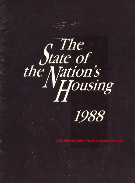 The State of the Nation's Housing 1988