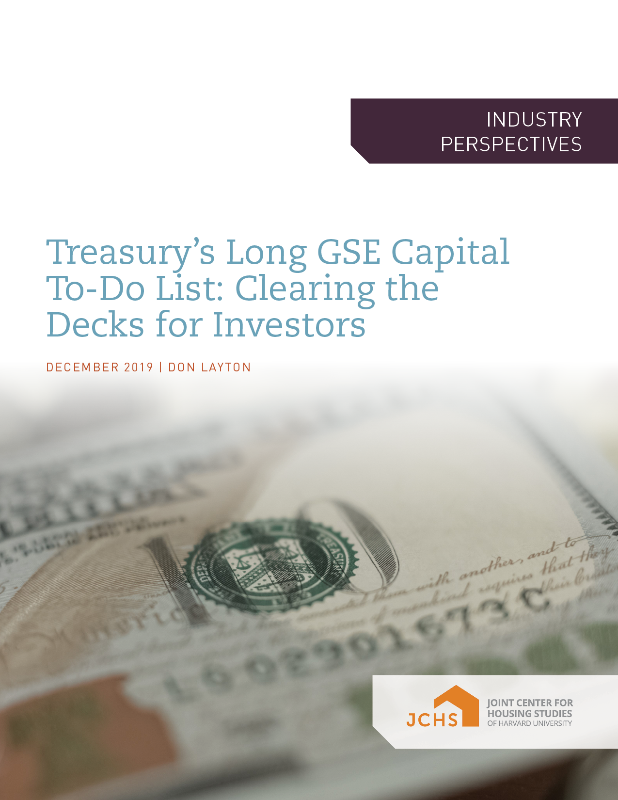 Treasury's Long GSE Capital To-Do List: Clearing the Decks for Investors