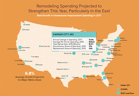 Remodeling Spending Projected to Strengthen This Year, Particularly in the East