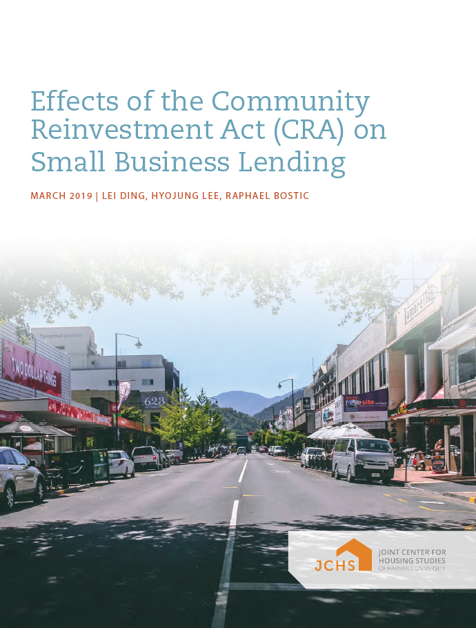 Effects of the Community Reinvestment Act (CRA) on Small Business Lending