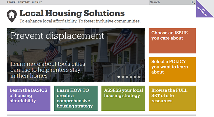LocalHousingSolutions.org: A New Tool to Promote Housing Affordability