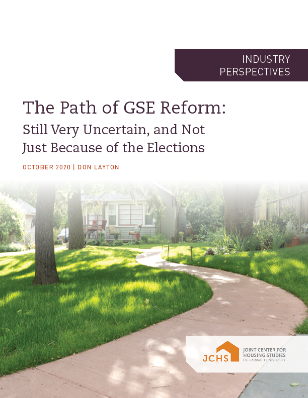 The Path of GSE Reform cover