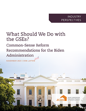 "Cover of the paper ""What Should We do with the GSEs?"""