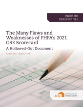 "Cover of the paper ""The Many Flaws and Weaknesses of FHFA's 2021 GSE Scorecard."""