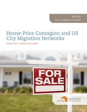 "Cover of the paper ""House Price Contagion and U.S. City Migration Networks."""