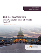 "Cover of the paper ""GSE Re-privatization"""