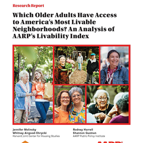 Which Older Adults Have Access to America's Most Livable Neighborhoods?