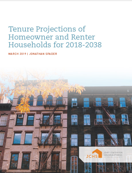 Tenure Projections of Homeowner and Renter Households for 2018-2038