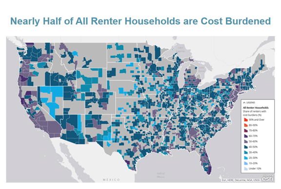 Million 26 4 Percent With Severe Cost Burdens Spending More Than Half Of Income On Housing Click The Map To Launch Or Read The Accompanying Blog