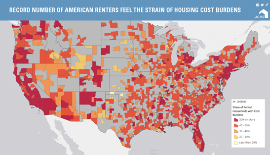 Interactive Maps Joint Center For Housing Studies Harvard - Us map housing expense 2016